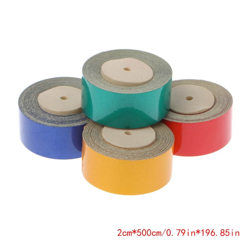 500cm X 2cm Car Truck Reflective Safety Warning Conspicuity Roll Tape Sticker Yellow