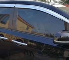 Козырёк для окна из АБС хром пластика защита от солнца и дождя