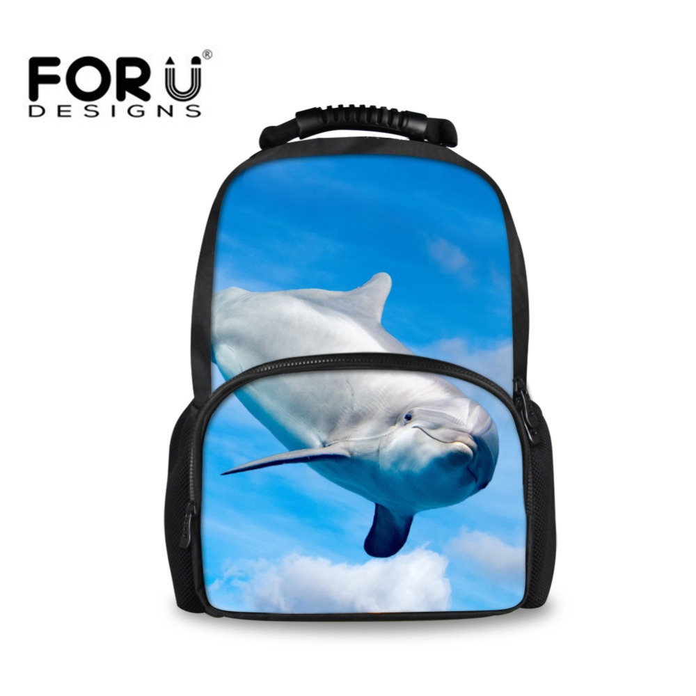 FORUDESINGS Dolphin Lion Backpack Animals Shoulder Bag for Girls Boys Student Book Bags Laptop Backpacks Travel Large Satchel objective ielts advanced student s book with cd rom
