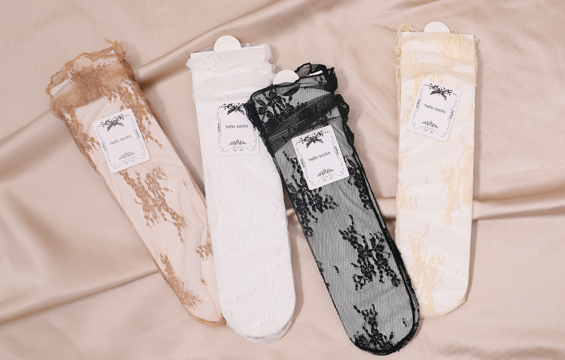 HTB14gq6TmzqK1RjSZFHq6z3CpXa6 - Sexy Tulle Socks Transparent Thin Long Lace Socks For Women Girl Summer Funny Socks Female Dress Hosiery Loose Sock Street