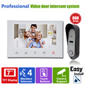 "Homefong Video Door Phone Door Bell Intercom  7""TFT indoor Monitor+1 Outdoor Doorbell Camera Home Entry Security Systems"