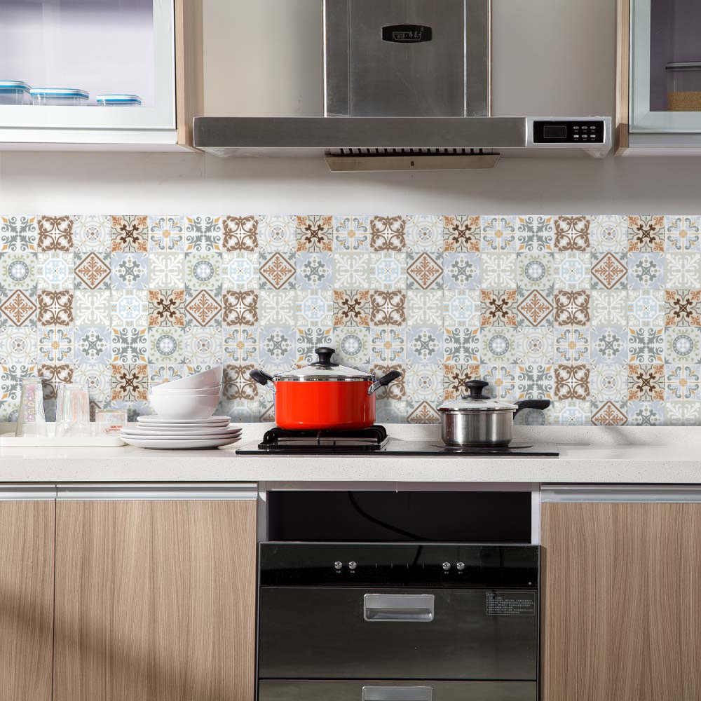 - Funlife Self Adhesive Moroccan Tiles Kitchen Backsplash Sticker