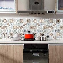 Funlife autoadhesivo azulejos pegatina impermeable baño cocina Backsplash decoración, Peel And Stick Vintage marroquí azulejo pared calcomanía