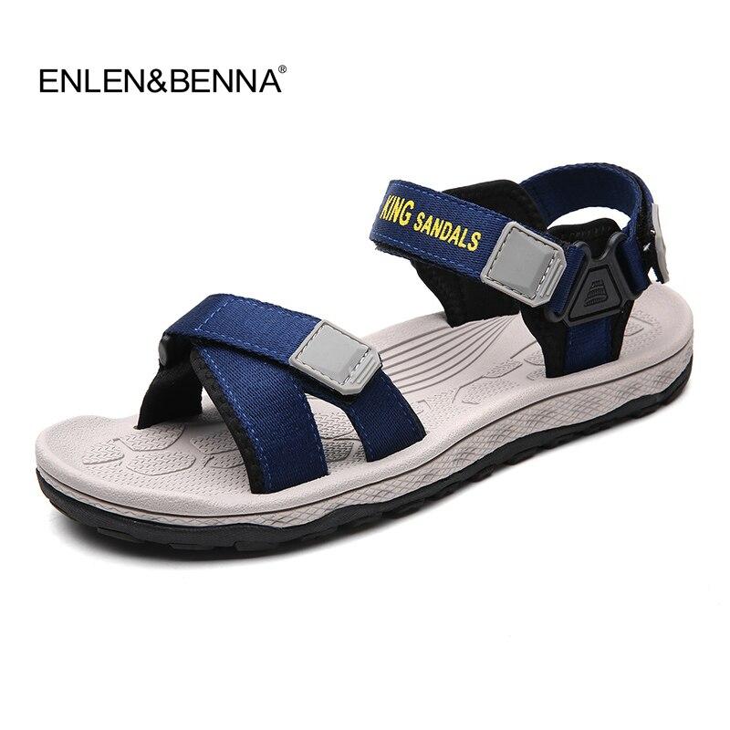 Fashion Man Beach Sandals 2018 Summer Gladiator Mens Outdoor Shoes Roman Men Casual Shoe Flip Flops Large Size 44 slippers Flat