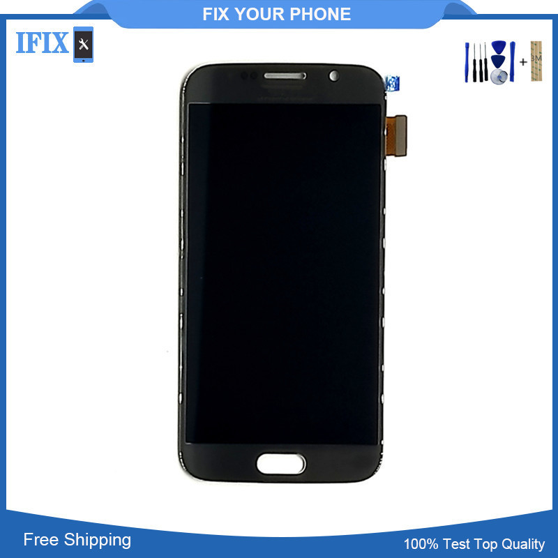 100pcslot for Samsung Galaxy S6 G920 G920f G920i G920A G920K LCD Screen Assembly Super AMOLED For S6 LCD with Tools