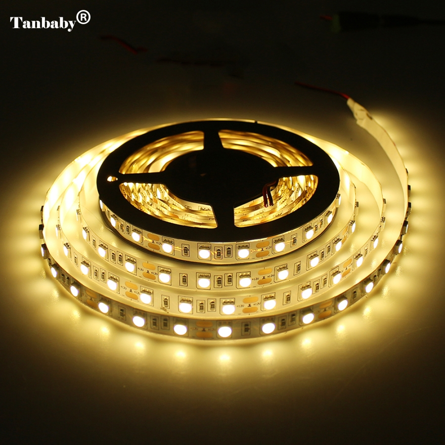 tanbaby smd 3528 5050 5630 3014 led strip dc12v flexible light 60 leds m white warm white red. Black Bedroom Furniture Sets. Home Design Ideas