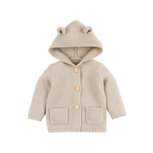 Autumn Baby Sweaters for Girls Cardigans White Bear Ear Newborn Knitted Jackets & Coats Winter Outerwear Children Clothing 0-24M red christmas reindeer knitted baby jacket for girls fall long sleeved sweaters cardigans coats newborn boys winter warm clothes