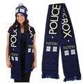 Аниме доктор кто TARDIS дизайн делюкс двухслойный мягкий теплый вязаный шарф зимой бренд шарф мужчин одеяло пара шарфы XM205