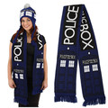 Anime Doctor Who TARDIS Design Deluxe double-layer Soft Warm Knitted Scarf winter brand scarf men blanket couple scarves XM205