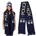 Anime Doctor Who TARDIS Design Deluxe dupla - camada suave e quente de malha cachecol de inverno da marca cachecol homens cobertor casal cachecóis XM205