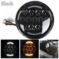 2 шт. 7 дюймов 105 Вт светодиодная фара прожектор Hi/Lo луч с белый/янтарный DRL для мотоцикла Jeep Heritage Softtail