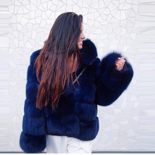 FURSARCAR NEW Winter Women Natural Real Fox Fur Whole Genuine Leather Female Jacket 2017 Thick Fox Fur Long Customize Fur Coat