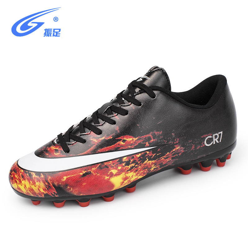 Cleats Men Soccer Shoes Outdoor AG Professional Football Shoes Sneakers Male Football Boots PU Lace Up Football Soccer Shoes
