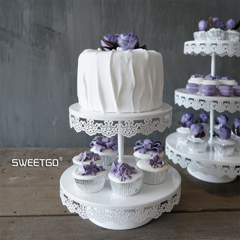 SWEETGO 2/3 nivele kupa e dasmës, tortë për dekor, tortë për - Kuzhinë, ngrënie dhe bar - Foto 6