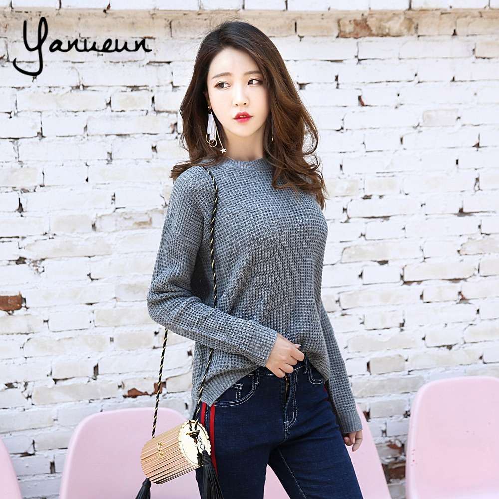 Yanueun Korean Fashion Sweater Shirt Women Jumper 2017 Autumn ...