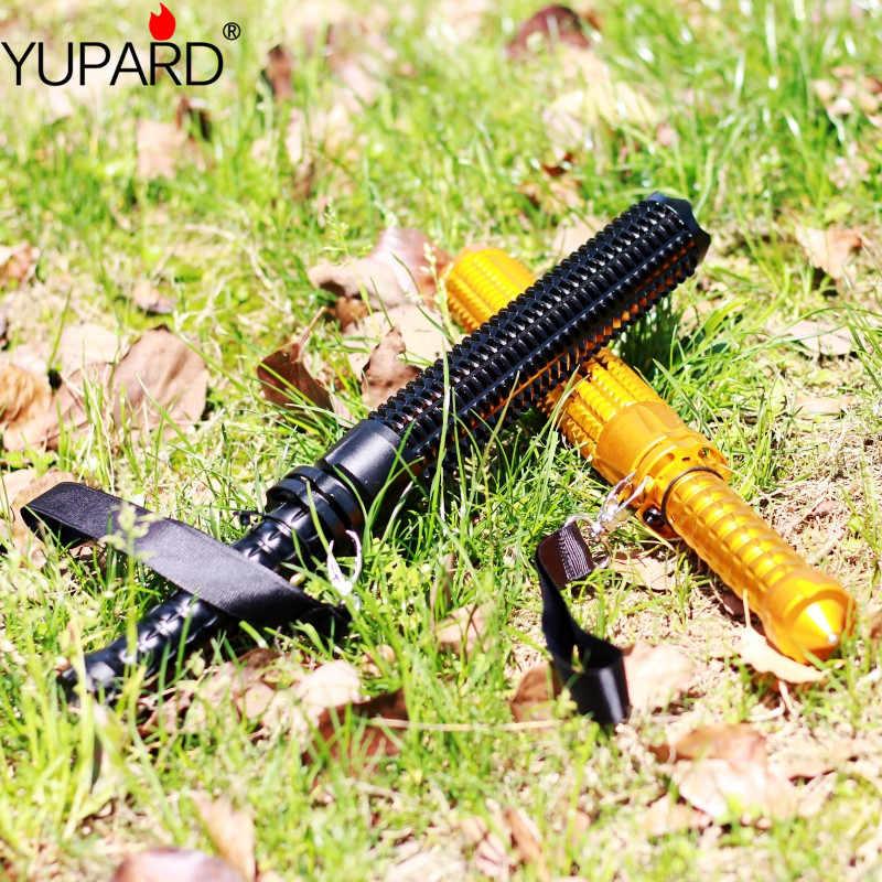 YUPARD táctico bate de béisbol Zoom LED XML T6 L2 linterna de defensa personal 5 modos 18650 batería recargable o batería AAA