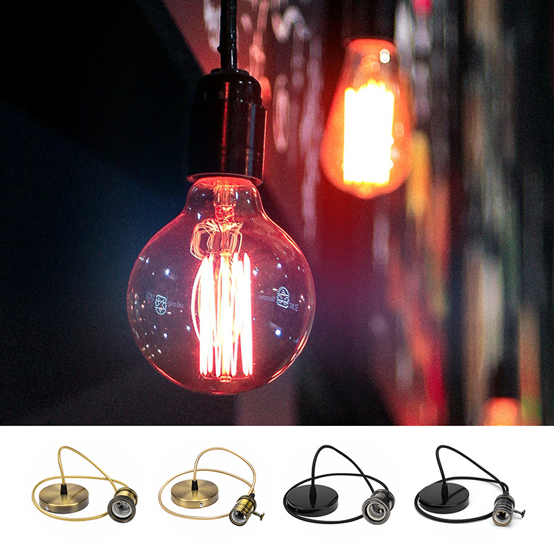 LED Bulb Holder E27 Lamp Base AC 85-265V Vintage LED Bulb Pendant Light Decorate Loft Creative Personality Industrial Pendant