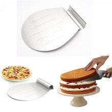 Edelstahl Kuchen Backenwerkzeuge Kuchen Pizza Schaufel Transfer Kuchenbehälter Beweglichen Platte Kuchen Heber DIY Backen & Pastry Werkzeuge