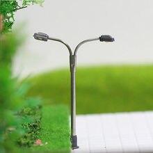 LQS15 10 модель железной дороги станционный фонарь Post уличные фонари Z весы светодиоды на платформе