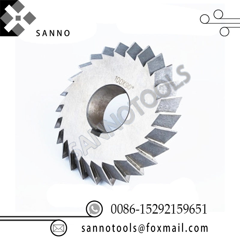 HSS end mills white steel V - double angle milling cutter 30 degree 45 degree 90 degree 60 degree helical gear for cnc machine (3)