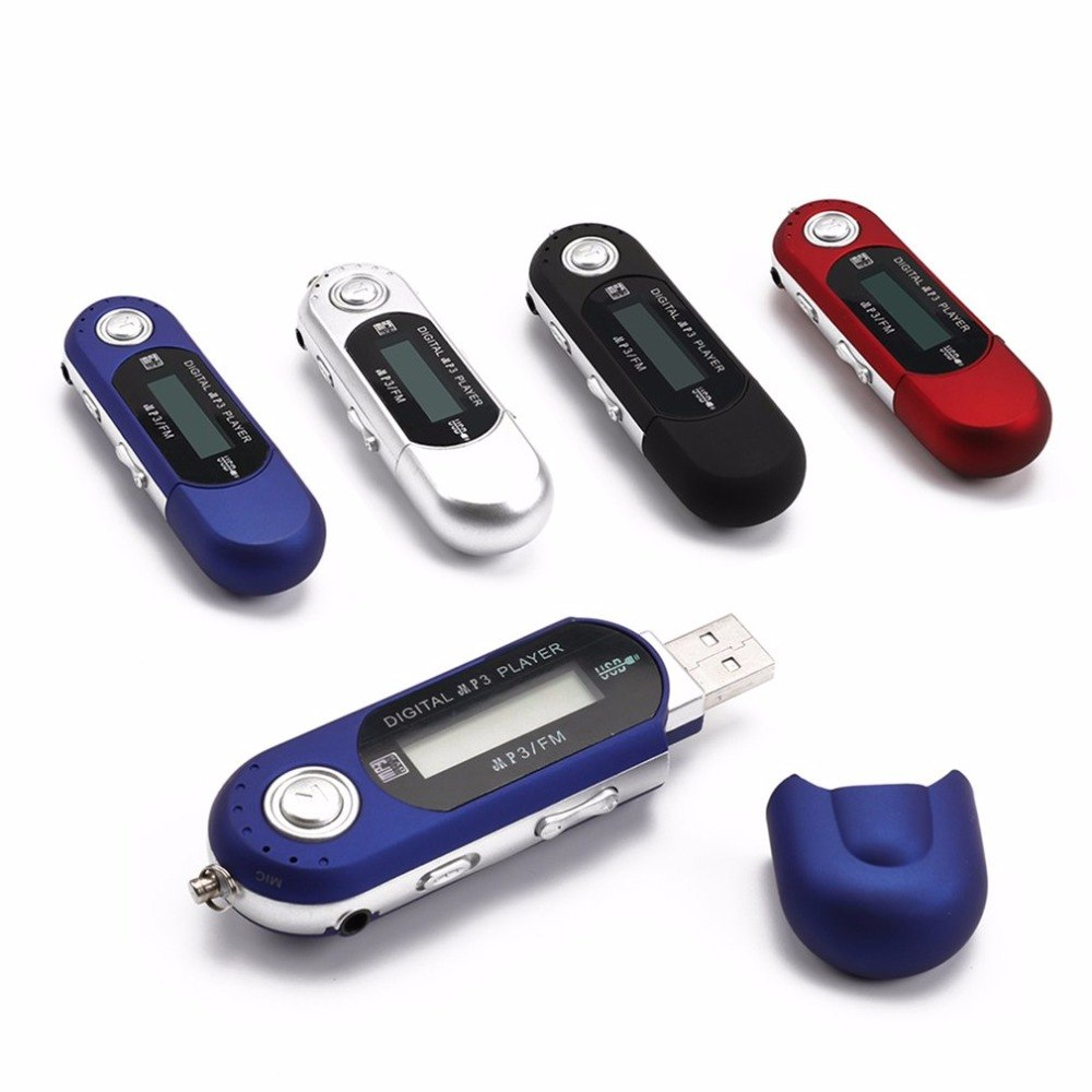 Digital Mini USB MP3 Music Player FM Radio Function With TF Card Slot LCD Screen Portable USB Flash Drive With Earphone