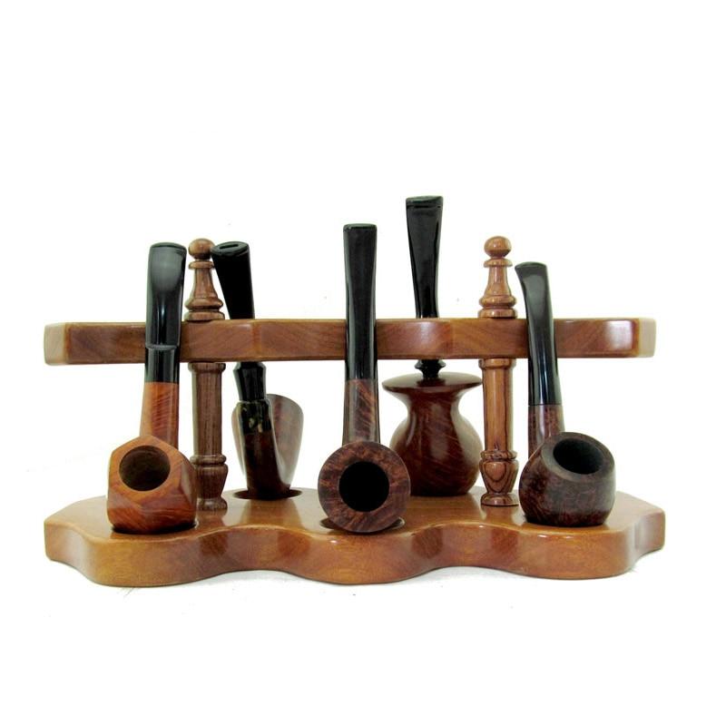 Buy Solid Wood 5pcs Smoking Pipe Rack
