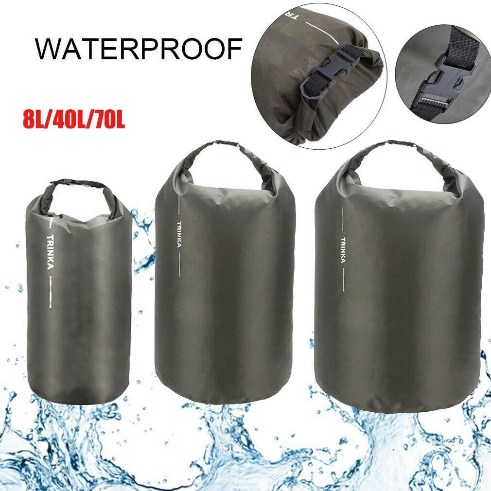 Открытый Портативный 8L 40L 70L дополнительный Водонепроницаемый сухой мешок для хранения сумка дорожная сумка