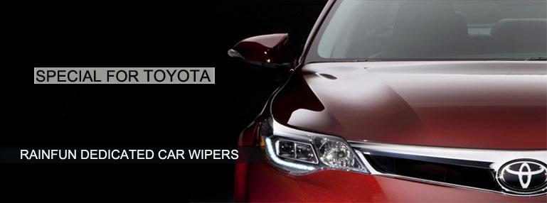 RAINFUN специальный автомобиль стеклоочистителя для TOYOTA REIZ(02-14), автомобиль стеклоочистителя с высоким качеством натурального каучука, 2 шт в партии