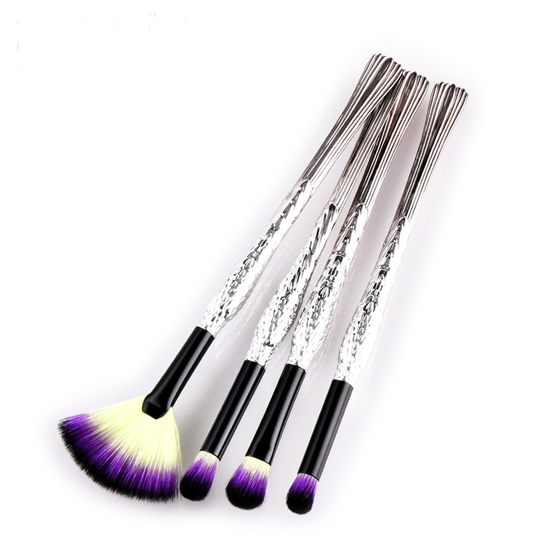 GUJHUI 4/5/7pcs Makeup Brushes Set Sky Blue Highlighter Powder Foundation Blush Synthetic Eyeliner Eyeshadow Eyebrow pincel unic