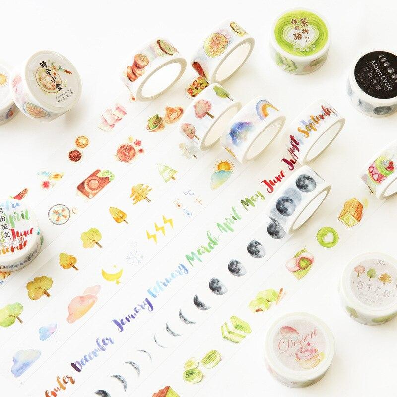 2 Cm Wide Mini Life Thing Washi Tape Adhesive Tape DIY Scrapbooking Sticker Label Masking Tape