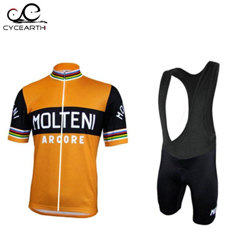 Prix pour Nouveau MOLTENI Vélo Jersey Hombre Maillot Ropa Ciclismo pro vélo Vêtements de Course En Plein Air Sport Porter Serré À Séchage Rapide CHAUD