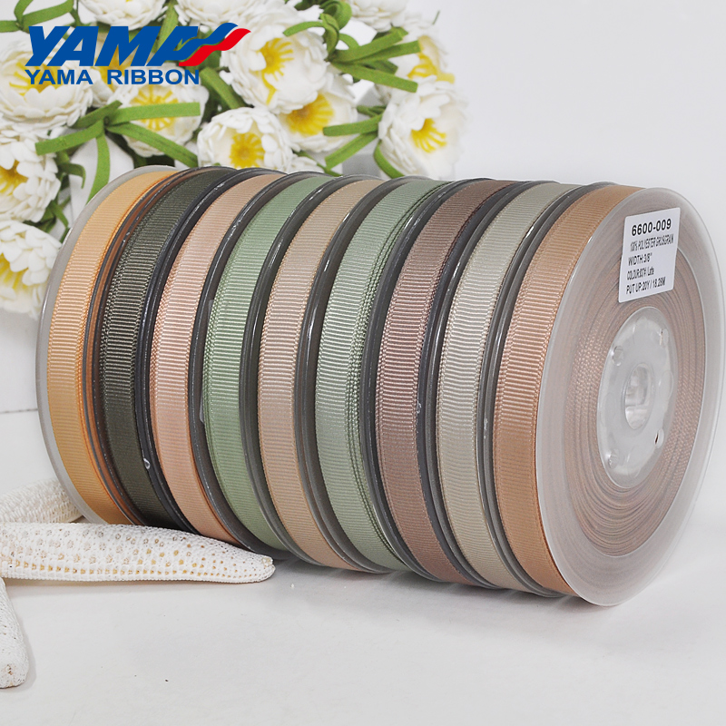 YAMA Wholesale Grosgrain Ribbon 6 9 13 16 19 22 mm 100 yards/lot Dark Brown for Diy Dress Accessory House Wedding Decoration