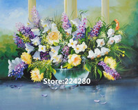 Needlework For Embroidery DIY DMC Flowers Lavender Purple Romantic Cross Stitch Kits Art Pattern Counted Cross