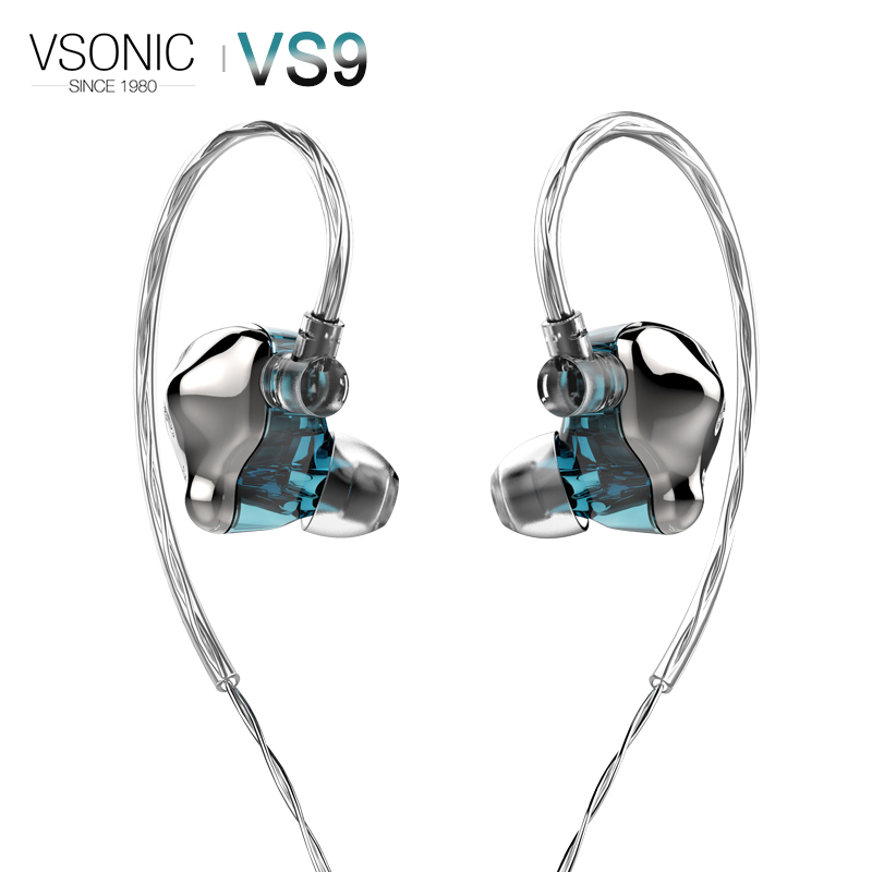 VSONIC VS9 ICEBERG Dynamic Driver HiFi AUDIO In-ear Earphone Flagship IEM with 2 pin 0.78mm Sterling Silver Detachable CabVSONIC VS9 ICEBERG Dynamic Driver HiFi AUDIO In-ear Earphone Flagship IEM with 2 pin 0.78mm Sterling Silver Detachable Cab