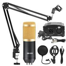 BM 800 Phòng Thu Micro Micro Điện Dung Thanh Nhạc Thu Âm KTV Karaoke BM800 microfono Cho Đài Phát Thanh Braodcasting Hát Giá Đỡ Mic
