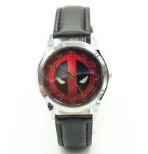 Marvel Super Hero Deadpool Superhero Leather Band Fashion Watch Wrist For Boy Man
