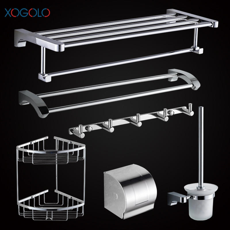 Xogolo copper chrome plating fashion wall mounted bath - Bathroom accessories paper towel holder ...