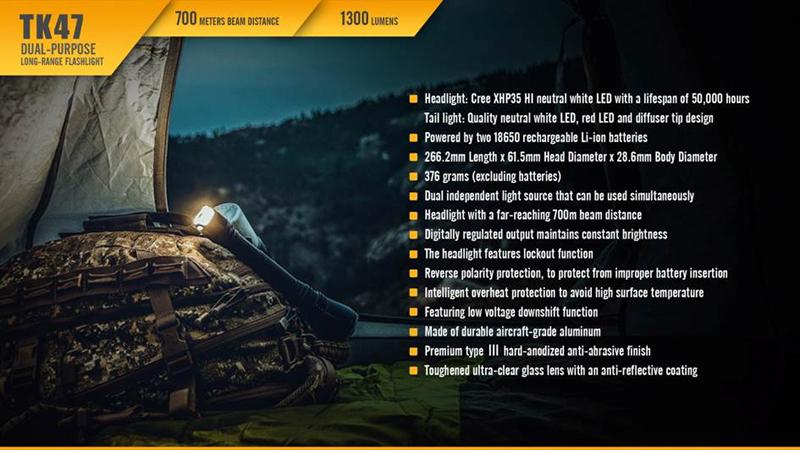 Fenix TK47 700 Meters Beam Distance Long Range Flashlight (20)