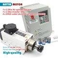 Доставка в ЕС! Квадратный Quanlity 2.2kw ER20 с воздушным охлаждением мотор шпинделя 220В 24000 об/мин керамический подшипник и Fuling инвертор и качествен...