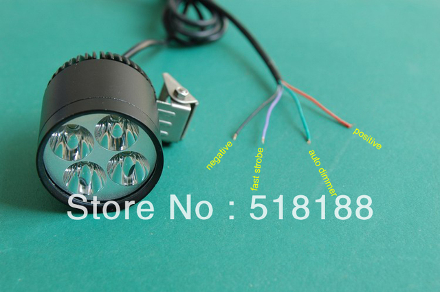 LDDCZENGHUITEC 1 CONJUNTO Moto LED Trabalho Spot Light 35 W 3500 Lumen 4 LEVOU Chip chip de XML T6 4T6 LED Motocicleta Luz de Condução 12V-16VDC