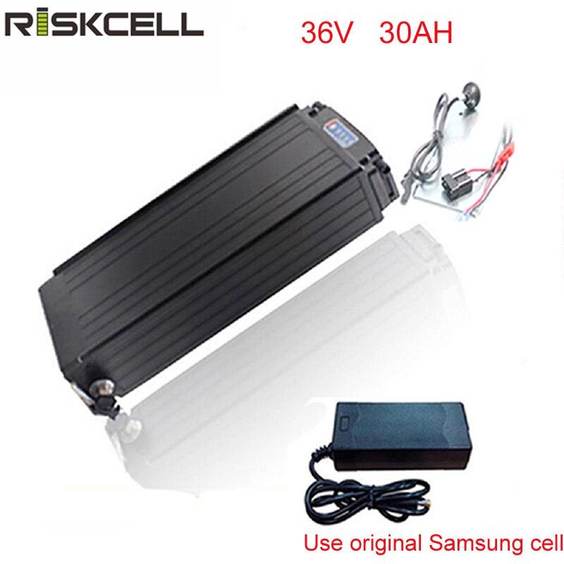 Аккумулятор для электровелосипеда, 36 В, 30 Ач, литий ионный аккумулятор для электровелосипеда bafang, 36 В, 1000 Вт, 500 Вт, аккумулятор для электровелосипеда samsung 18650