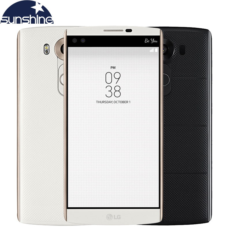 Original LG V10 Hexa Core Mobile Phone 4GB RAM 64GB ROM 5.7'' 16.0MP 2560*1440 LTE 4G Smartphone 2900mAh Battery