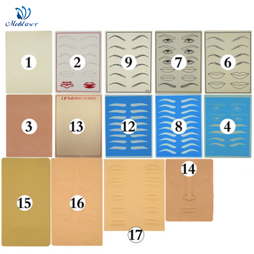 3D Microblading Supplies Permanent Makeup Eyebrow Tattoo Eyebrow Practice Skin Eyebrow Training for tattoo needles accesorios