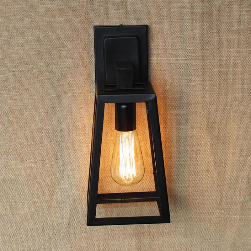 Кантри стиль лофт стеклянный абажур настенный светильник из фибролитов средей плотности/Спальня/коридор/мебель для гостиной/кафе E27 110 V-240 V