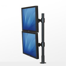 13-27″ Twin Display screen Full Rotation Monitor Holder 2 LCD TV Desktop Grommet Mount Free Lifting By way of-hole Bracket SK013A
