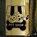 Магазин стекла окна двери стикер cat собак pet food shop знак пэт плакат салон клей AD приветственный знак наклейки магазин наклейки