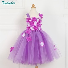 Tonlinker Girls Couture Rainbow Tutu Dress Kids Christmas Circus Clown Photo Props Birthday Costume Colthing New 2018
