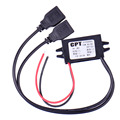 New DC-DC Car Converter Module 12V To 5V Double USB Charger Adapter 3A 15W Connector Power Output Mounting Install Hole