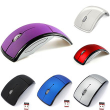 New Optical 2.4G Foldable Wireless Mouse Cordless Mice USB Folding Mouse Receiver