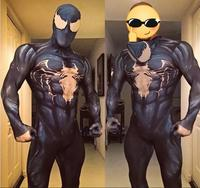 Venom Spiderman Costumes Custom 3D Printed Symbiote Spider Man Lycra Cosplay Costume Zentai Spidey Suit for Adults/Kids/Children